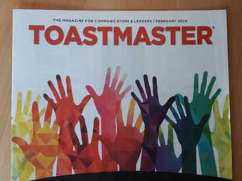 The Toastmaster magazine which each member gets monthly (as an online magazine).